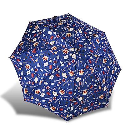 RAINSTORY倫敦風情(藍)抗UV自動開直骨傘