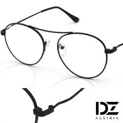 DZ 獨特高樑細線框 平光眼鏡(亮黑框-無鏡片)