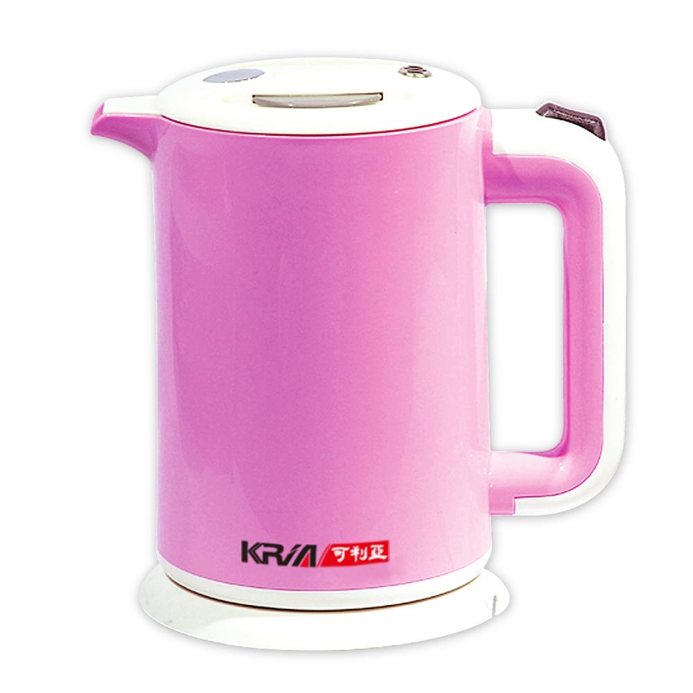 KRIA可利亞 雙層防燙全開口式迷你開水瓶/快煮壺/電水壺(KR-1310)
