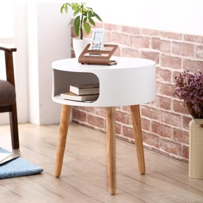 Bed Maker-布蕾爾 多用途邊桌/圓桌/茶几/電話桌46x46x54.5cm