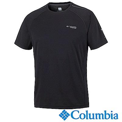 Columbia 哥倫比亞 男-鈦防曬15涼感快排短袖上衣 黑UAE06330BK