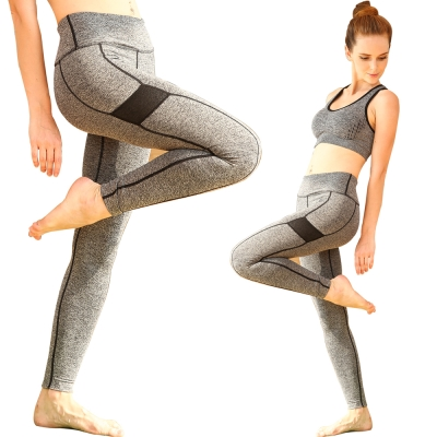 Seraphic-運動快乾彈力壓縮褲一件-顯瘦灰