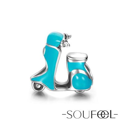 SOUFEEL索菲爾 925純銀珠飾 摩托車 串珠