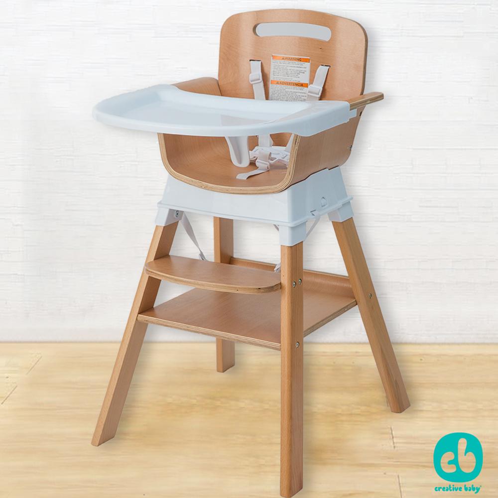 Creative Baby 四合一複合式寶寶成長型大餐椅/四色任選