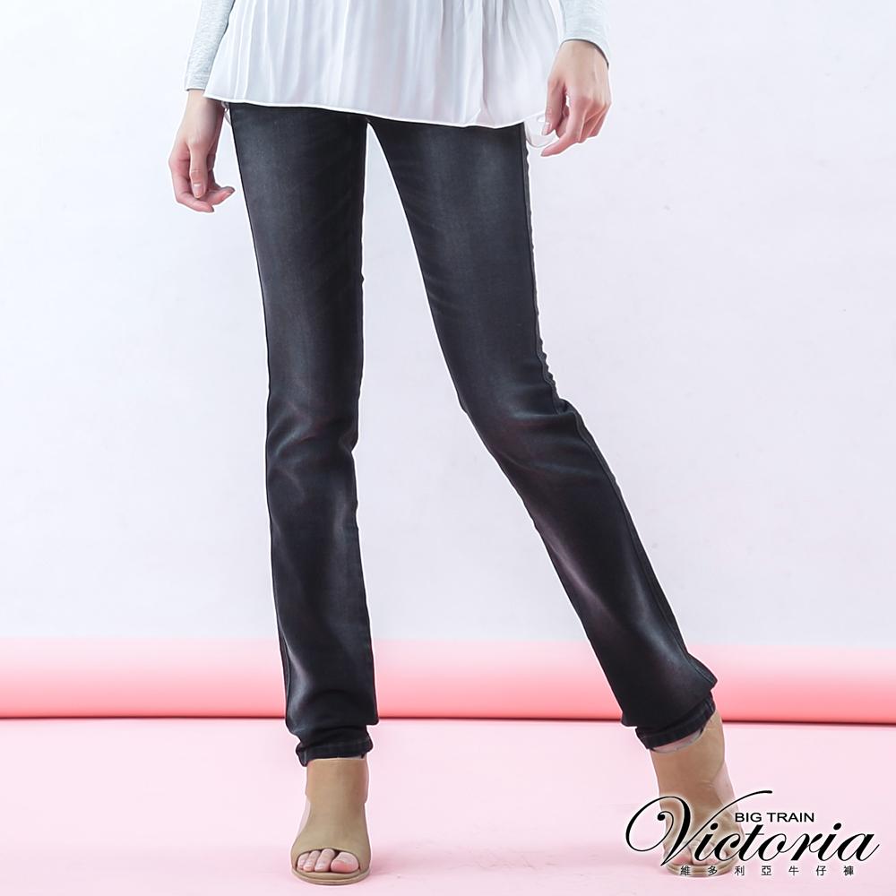 Victoria 基本V字鑽小直筒褲-女-黑