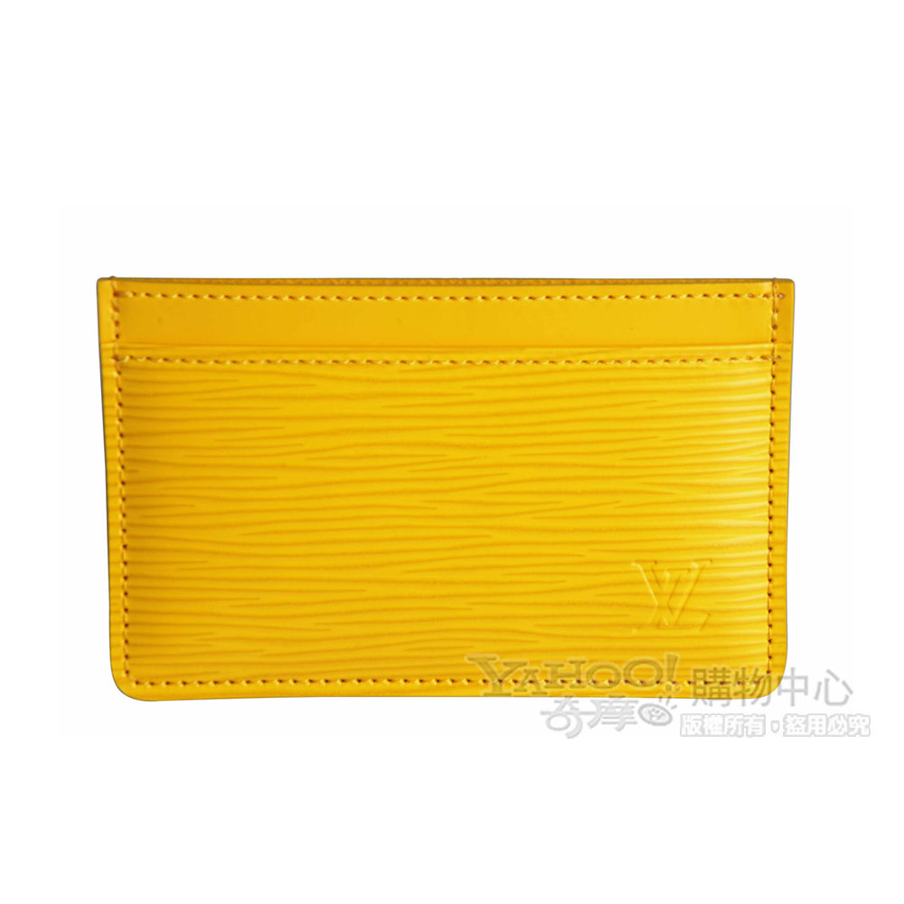LV【M60329】經典EPI水波紋porte-cartes simple功能卡片夾(檸檬