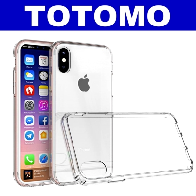 TOTOMO  For:iPhone X 防摔保護殼(高顏質超透感硬背板)-全透