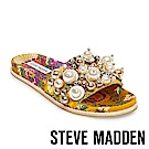 STEVE MADDEN-DELICATE 珍珠鉚釘鑲嵌一字拖-黃色