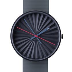 NAVA DESIGN Plicate watch 太陽放射紋美學時尚腕錶-深藍/39mm