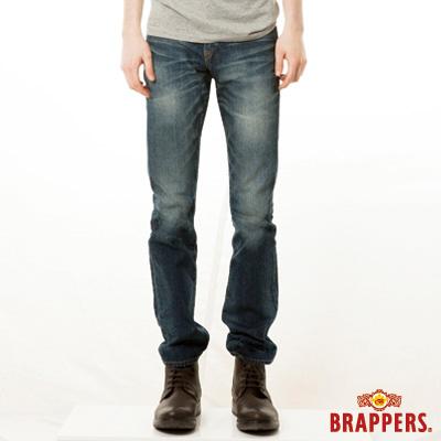 BRAPPERS 男款 新美腳Royal系列-男用中窄直統褲-藍