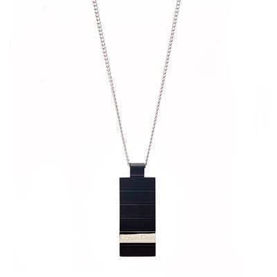 CK Calvin Klein 現代時尚風的消光黑色項鍊
