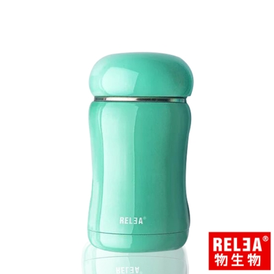 香港RELEA物生物 嘟嘟真空保溫保冷杯210ml 薄荷綠