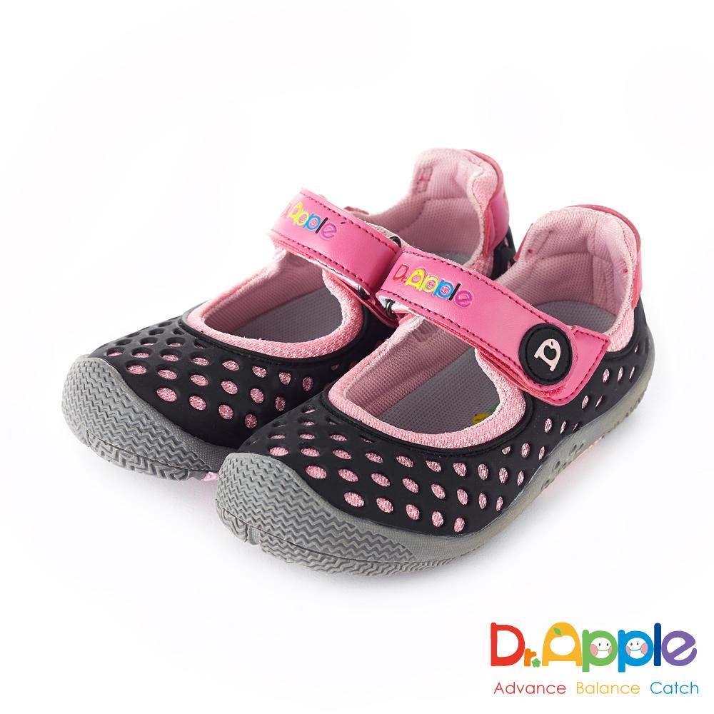 Dr. Apple 機能童鞋 洞洞涼一夏超cute休閒童鞋款 黑