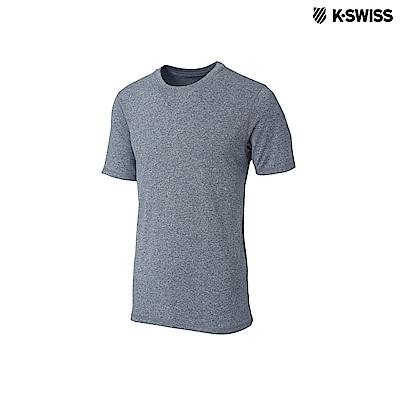 K-Swiss Coverseam Panel Tee排汗T恤-男-灰