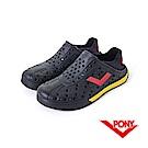 【PONY】ENJOY 系列-輕量透氣洞洞鞋-中性-黑/紅(德國)