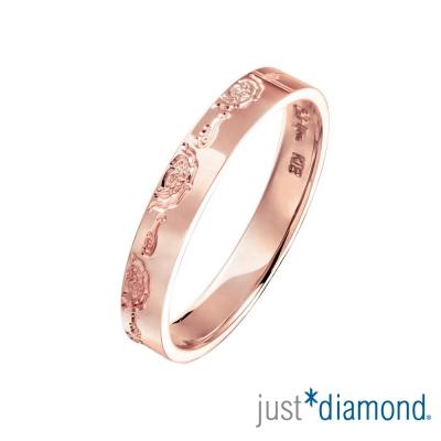 Just Diamond 18K玫瑰金戒指(3mm)-鴛鴦