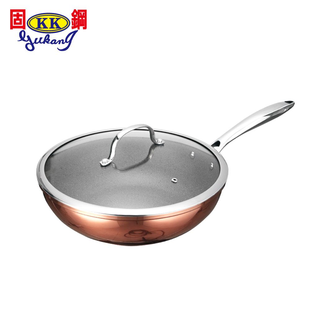 固鋼 皇家銅鈦精品鍋具30cm炒鍋