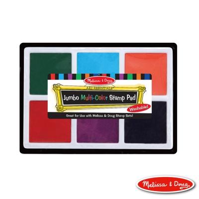 美國瑪莉莎 Melissa & Doug 美勞創意 - 超大盒 6色印泥