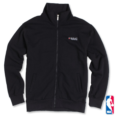 NBA-邁阿密熱火隊休閒厚棉外套-黑(男)