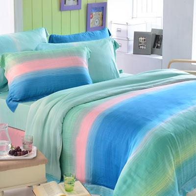 英國Abelia 藍茵湖畔 雙人木漿纖維八件式兩用被床罩組