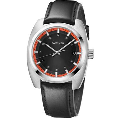 Calvin Klein Achieve 自信美學時尚腕錶(K8W311C1)黑/44mm