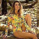 Avalanche巴西泳裝-塔斯馬尼亞-長袖連身泳裝-黃色系