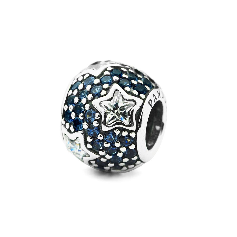 Pandora 潘朵拉 透明星星滿鑲藍鋯石墜