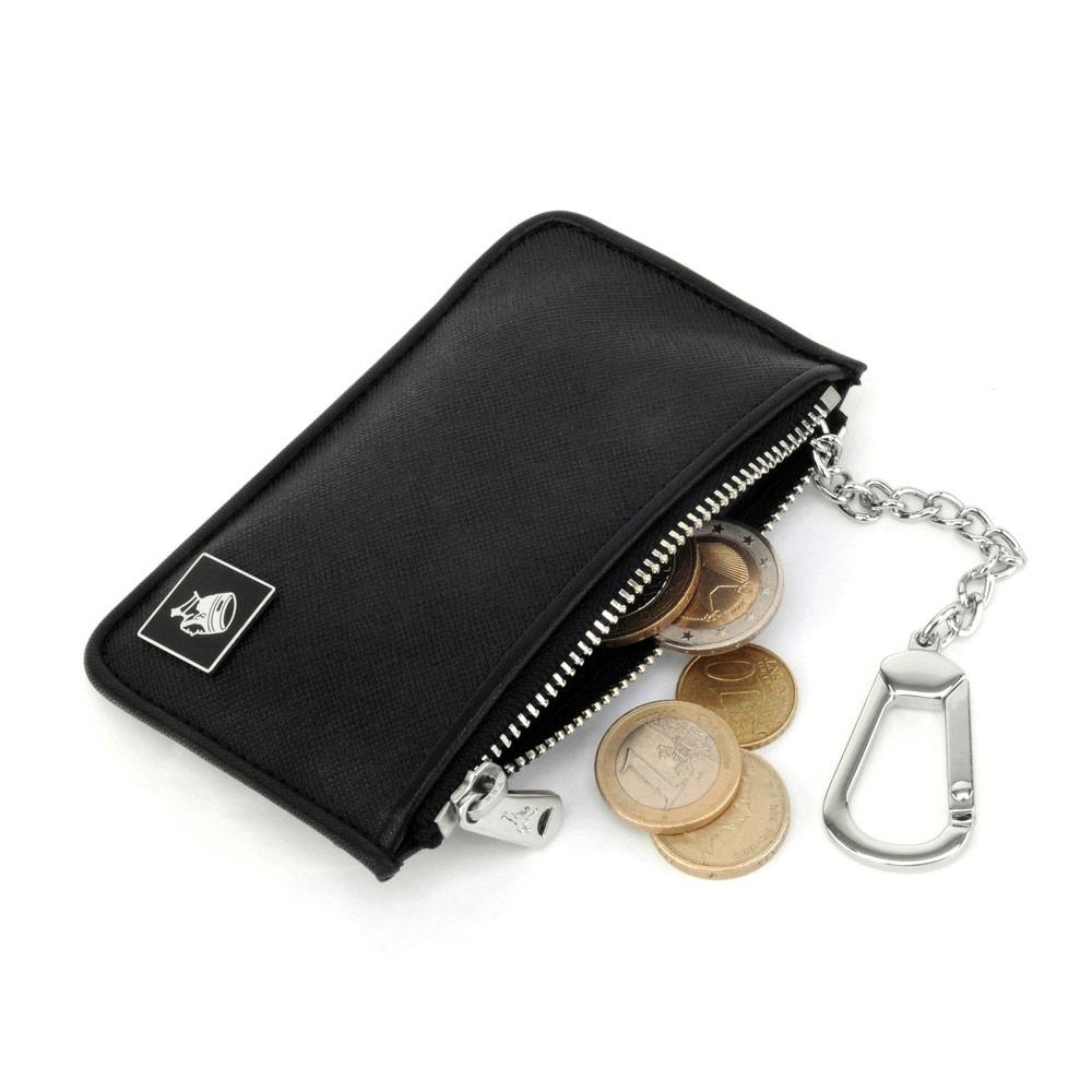 PORTER - 法式時尚BEND鑰匙掛環零錢包(小) - 黑