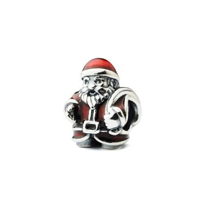 Pandora 潘朵拉 紅色塘瓷聖誕老人墜