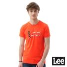 Lee 短袖T恤 美國國旗logo圓領 男 橘