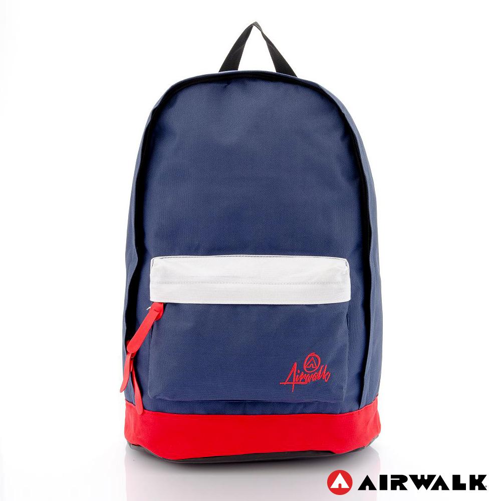 AIRWALK - 書卷系 撞色筆電後背包 - 白紅藍