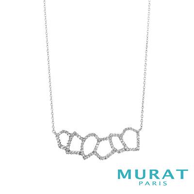 MURAT Paris米哈巴黎 重疊幾何晶鑽項鍊