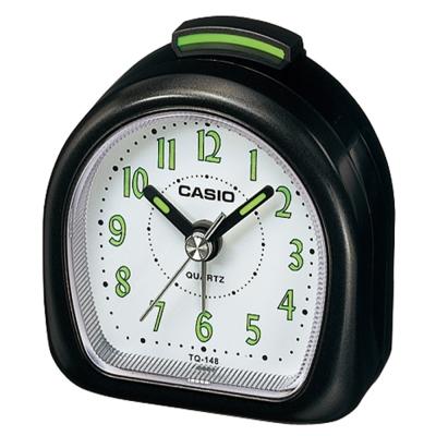 CASIO 夜光指針桌上型鬧鐘(銀色/黑色 )2色可選