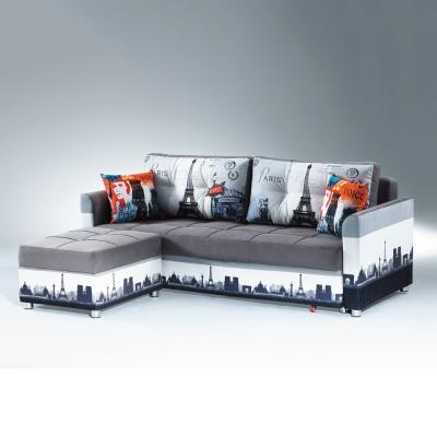 AS-愛得乃納收納式L型沙發床- 217 x 196 x 76 cm