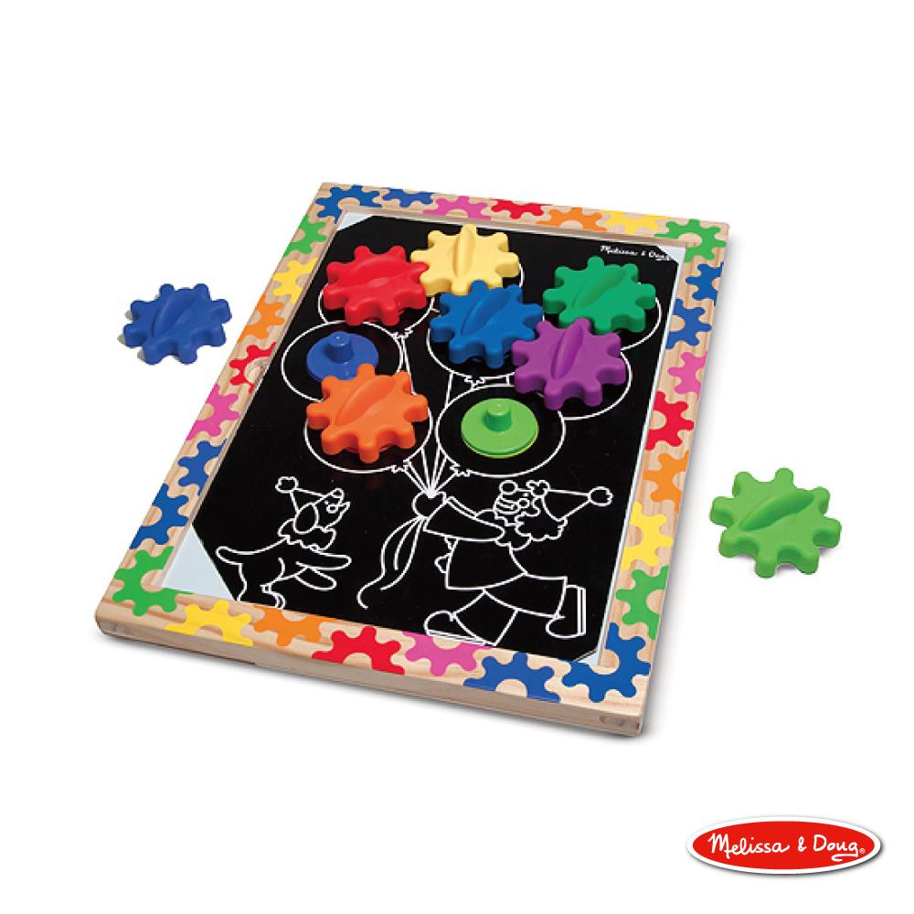 美國瑪莉莎 Melissa & Doug 益智-10面磁力齒輪遊戲板