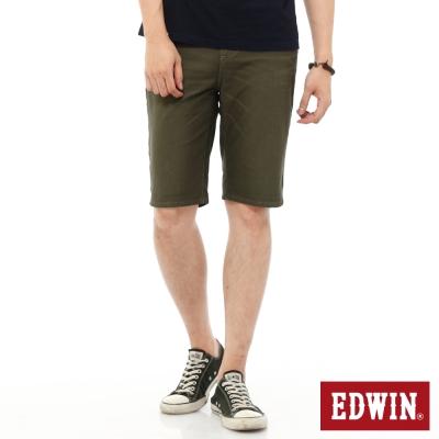 EDWIN 迦績褲JERSEYS內藏腰頭短褲-男-橄欖綠