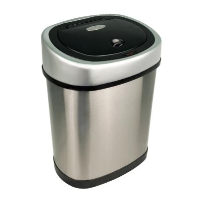 美國NINESTARS時尚不銹鋼感應垃圾桶12L