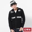 EDWIN 品牌標語帽可拆袖襯衫-男-黑色