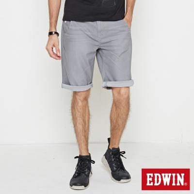 EDWIN 迦績褲JERSEY合身色褲短褲-男-淺灰色
