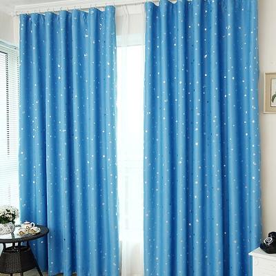 布安於室-星晨單層雙用窗簾-藍色-寬130x高150cm