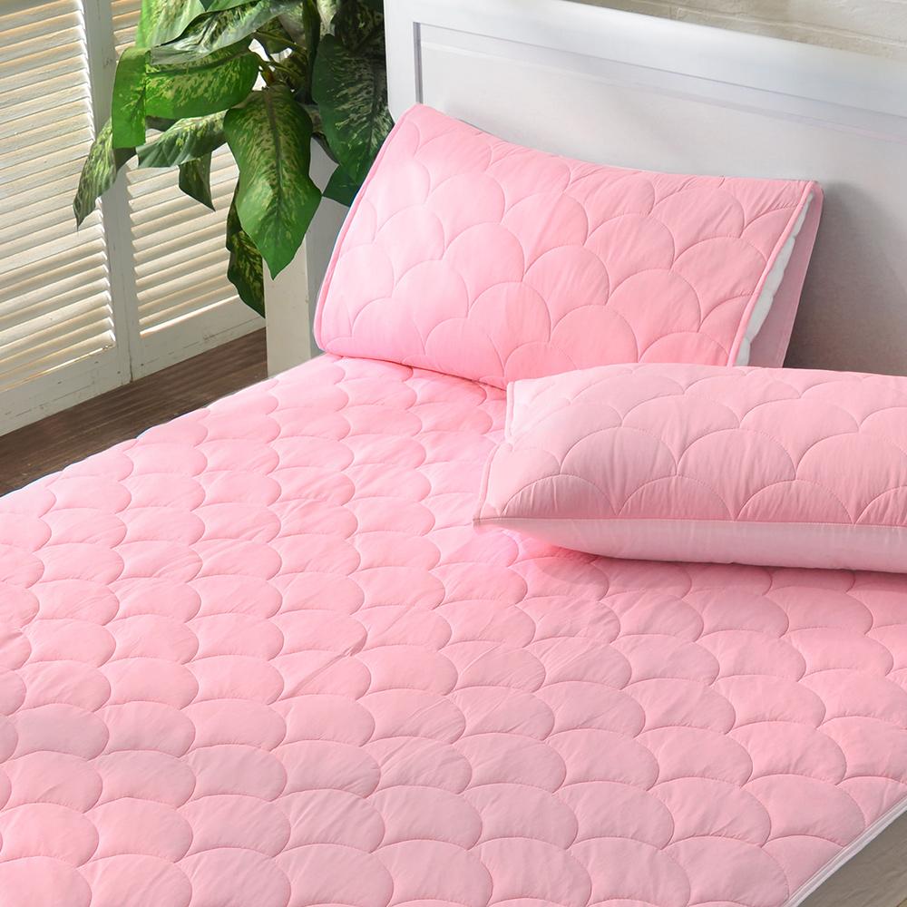 義大利La Belle 繽紛漾彩-甜粉 超涼感平面式保潔墊--特大