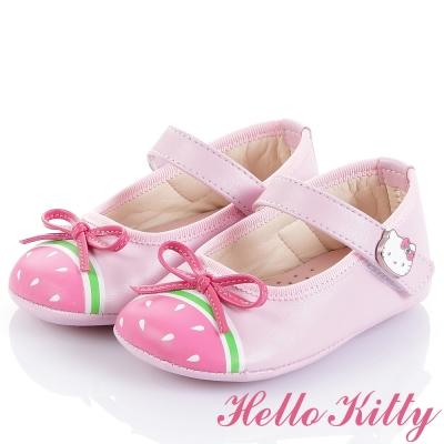 (獨賣款)HelloKitty童鞋 超纖透氣皮學步鞋-粉(幼童)