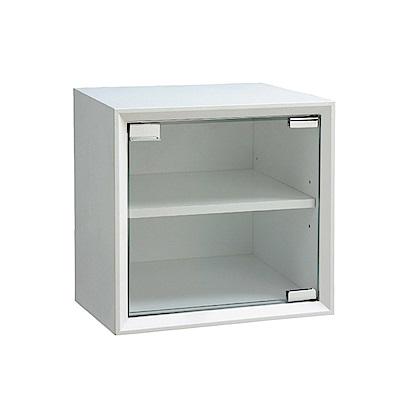 品家居 格吉1尺玻璃單門收納櫃(三色可選)-30x30x30cm免組