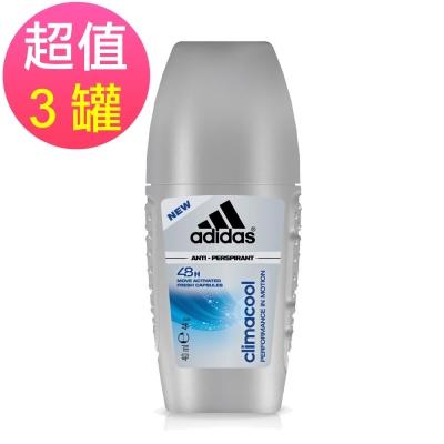 adidas愛迪達 動感香氛制汗爽身滾珠(男用)x3罐(40ml/罐)