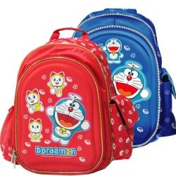 哆啦A夢日式硬殼護脊書背包(藍/紅_DO-4008)