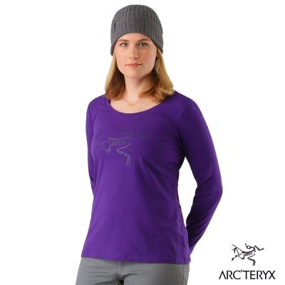Arcteryx 始祖鳥 24系列 女 有機棉長袖T恤 紫