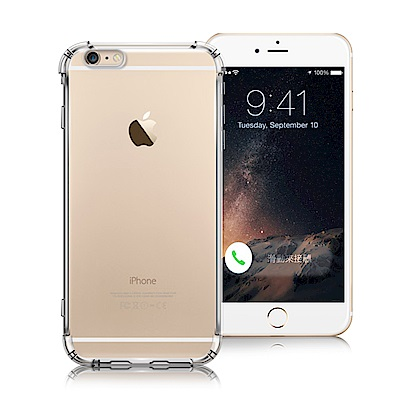XM iPhone 6s Plus/6 Plus 清透高質感TPU+PC手機保護殼-白