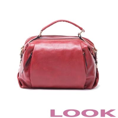 LOOK - Melissa梅麗莎-率性手提包-經典紅