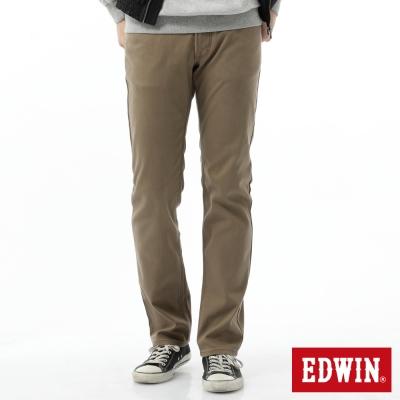 EDWIN 中直筒 EDGE保溫褲-男-褐色