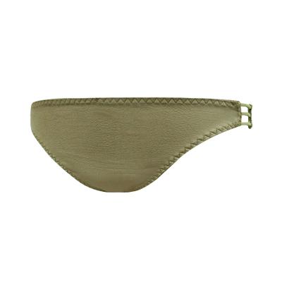 瑪登瑪朵-魔酷風革-魔酷款-低腰三角網褲-軍綠